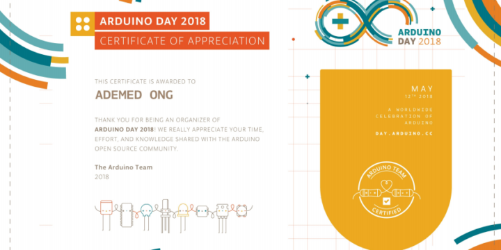 Arduino Day 2018 by ADEMED ngo – done!